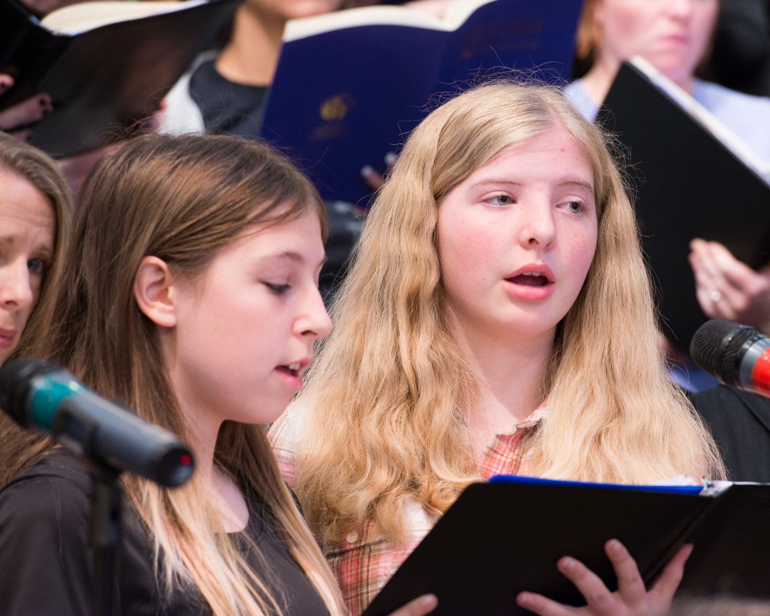 Two young singers in the Round Rock Community Choir